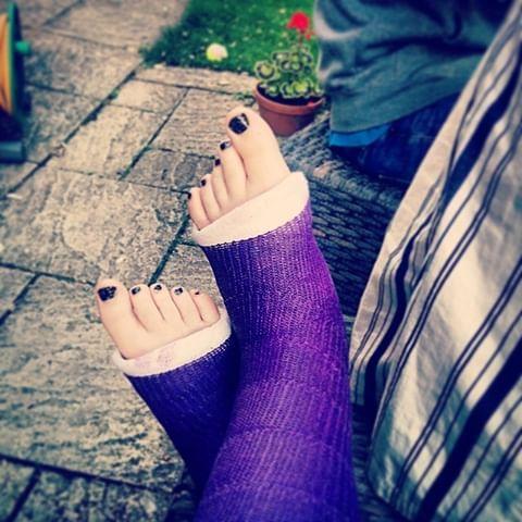 Purple Foot Fetish